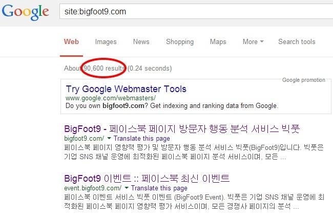 구글 검색결과(SERPs)에 반영된 결과 알아보기