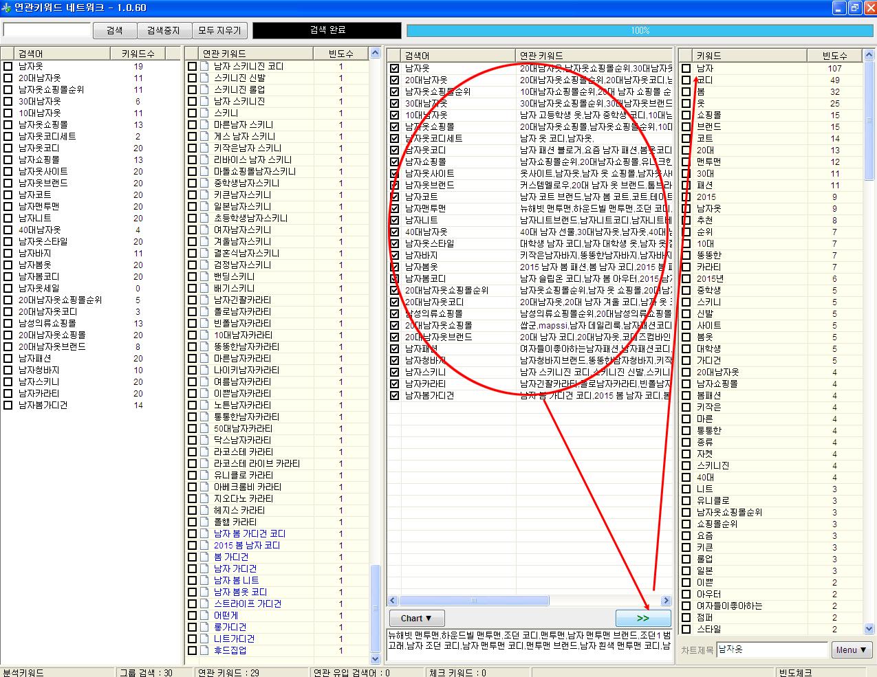 애드코프 SEO 교육용 프로그램 연관 키워드 네트워크에서 검색 인사이트 얻기