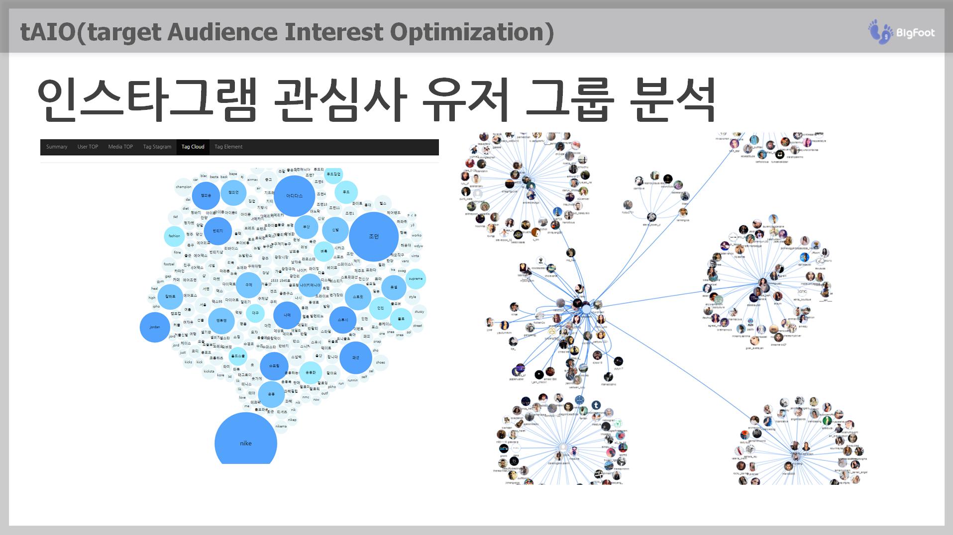 tAIO 4단계 인스타그램 유저 관심사 그룹분석